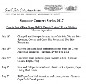 Dennisport Summer Concert Series @ Dennisport Village Green | Dennis | Massachusetts | United States