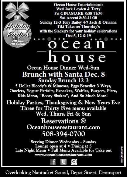 Brunch with Santa at the Ocean House Restaurant @ Ocean House Restaurant | Dennis | Massachusetts | United States
